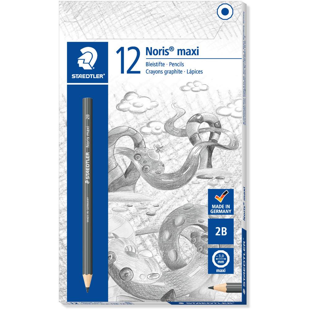 NORIS CLUB MAXI LEARNER PENCIL Graphite 2B Box of 12
