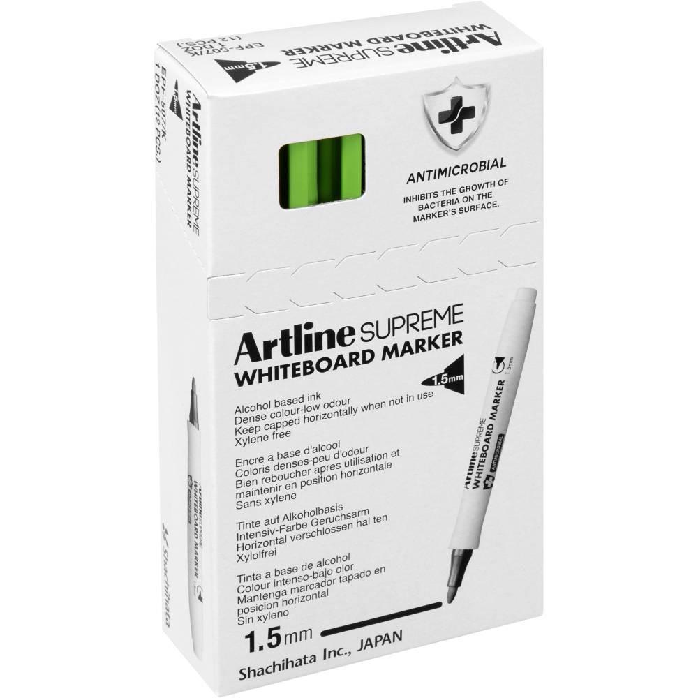 ARTLINE SUPREME WHITEBOARD MKR Lime Green 1.5mm Nib