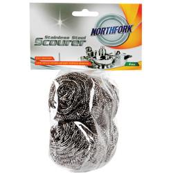 Northfork Stainless Steel Scourer Pack of 4