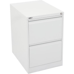 2 DRAWER FILING CABINET (ASSEMBLED) 460W X 620D X 705H White China