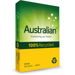 AUSTRALIAN 100% RECYCLED A3 80gsm Ream 500