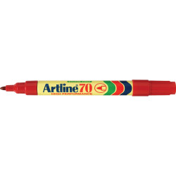 ARTLINE 70 PERMANENT MARKERS Med Bullet Red