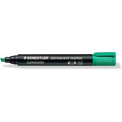 STAEDTLER 350 PERMANENT MARKER Chisel Green Box of 10