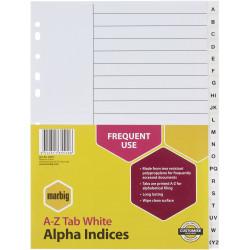 MARBIG ALPHABETICAL INDICES A4 PP A-Z White