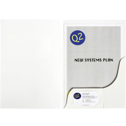 MARBIG PRESENTATION FOLDERS Pro Series A4 White Gloss