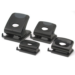 MARBIG 2 HOLE PUNCH H/Duty w/Lock 35Sht Cap Black