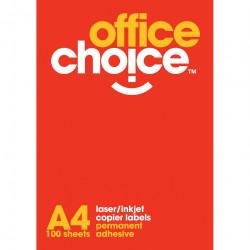 OFFICE CHOICE LASER LABELS Inkjet/Copier 2/Sht 199.6x143.