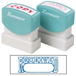 XSTAMPER -1 COLOUR -TITLES R-Z 1203 Received/Date Blue