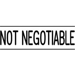 DESKMATE PRE INK STAMP NOT NEGOTIABLE Black N03