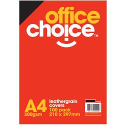 OFFICE CHOICE BINDING COVERS Leathergrain Black