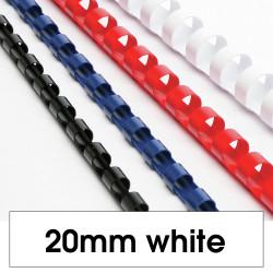 REXEL BINDING COMB 20mm 21 Loop 165Sht Cap White
