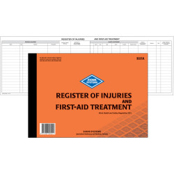 ZIONS RIFA REG OF INJURIES BK Register Of Inj &First Aid Nsw