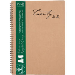CUMBERLAND ECOWISE SPIRALDIARY A4,Week-Open,Boardcover Recycled