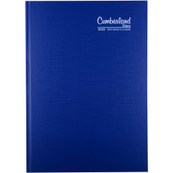 CUMBERLAND PREMIUM CASEBOUND A4 2 days to a page 1Hr Blue