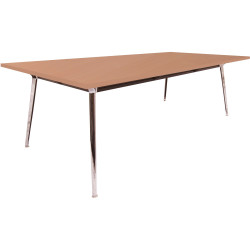 Rapid Air Boardroom Table 1 Piece Beech top Single Stage 2400mm x 1200mm x 750mm H