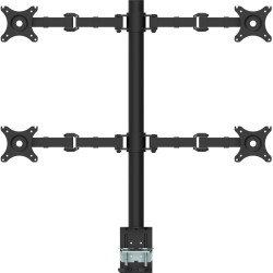 RapidLine Revolve Monitor Arm Quad 708mm H Central Pole 360mm Arm Reach