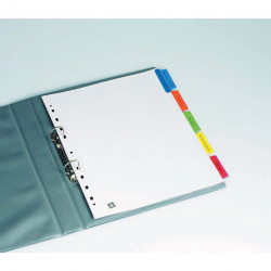 AVERY L7430-5 DIVIDERS INSERT A4 Xtra Wide 5Tab White,Colour