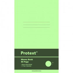 PROTEXT MEMO BOOK 80 PAGES PP COVER