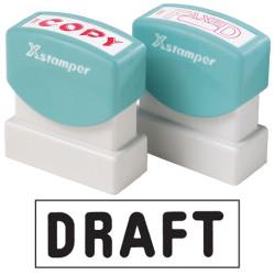XSTAMPER -1 COLOUR -TITLES D-F 1358 Draft Black
