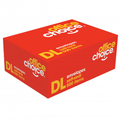 OFFICE CHOICE DL ENVELOPES 110X220 SelfSeal Plain 80g