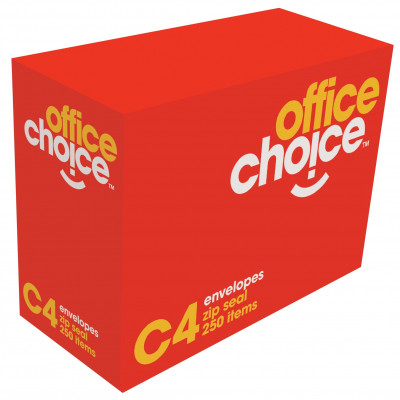 OFFICE CHOICE C4 ENVELOPES 324x229 StripSeal White 100g