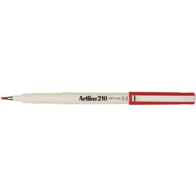 ARTLINE 210 FINELINER PENS 0.6mm Red