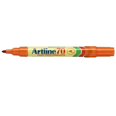 ARTLINE 70 PERMANENT MARKERS Med Bullet Orange Pack Of 12