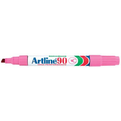 ARTLINE 90 PERMANENT MARKERS Med Chisel Pink