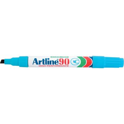 ARTLINE 90 PERMANENT MARKERS Med Chisel Light Blue Pack 12
