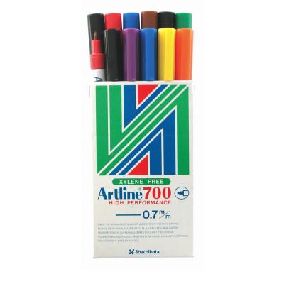 ARTLINE 700 PERMANENT MARKERS Fine Bullet Assorted 8 Colours
