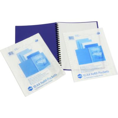 MARBIG REFILLABLE DISPLAY BOOK Refills A4 Clear - PK10