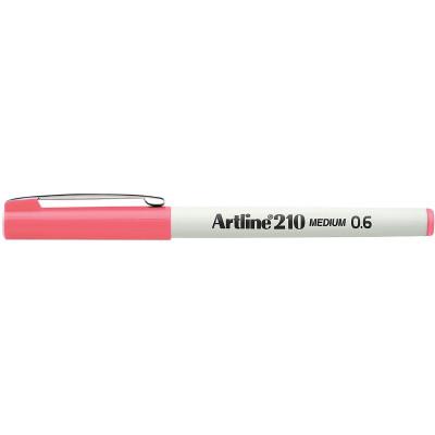 Artline 210 0.6mm Fineliner Pen Pink BX12