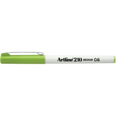 Artline 210 0.6mm Fineliner Pen Lime Green BX12