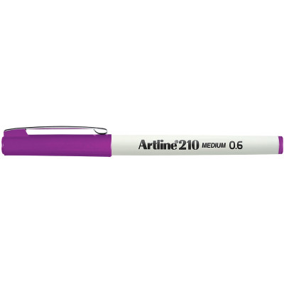 Artline 210 0.6mm Fineliner Pen Magenta BX12