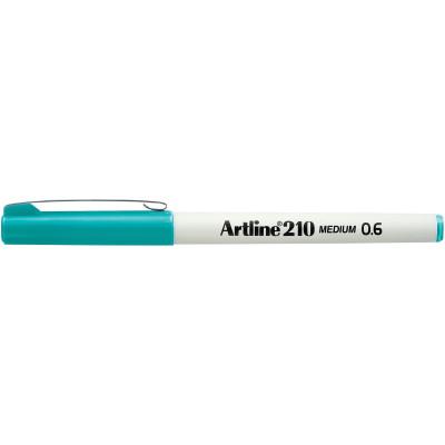 Artline 210 0.6mm Fineliner Pen Turquoise BX12