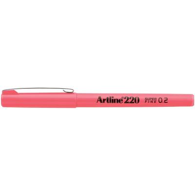 Artline 220 0.2mm Fineliner Pen Pink BX12