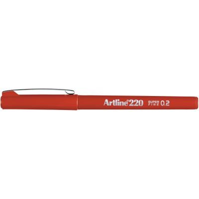 Artline 220 0.2mm Fineliner Pen Dark Red BX12