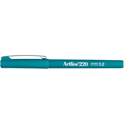 Artline 220 0.2mm Fineliner Pen Dark Green BX12