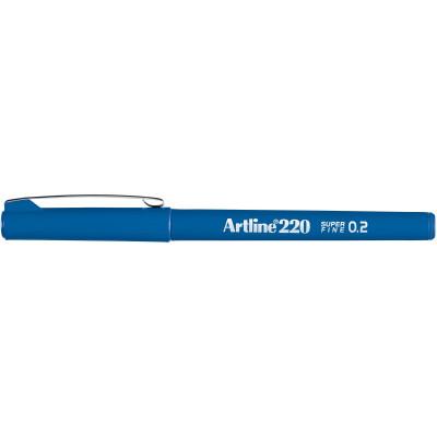Artline 220 0.2mm Fineliner Pen Royal Blue BX12