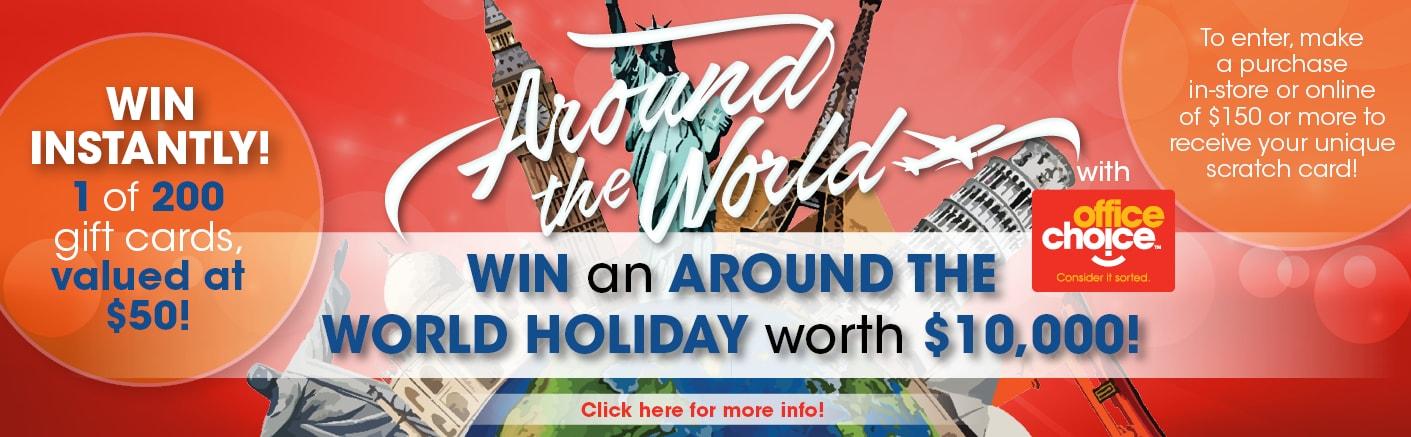 Win an Around the World holiday worth $10,000!